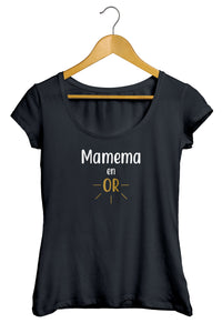 T-shirt femme Mamie Mamema Grand mère en or  So Custom