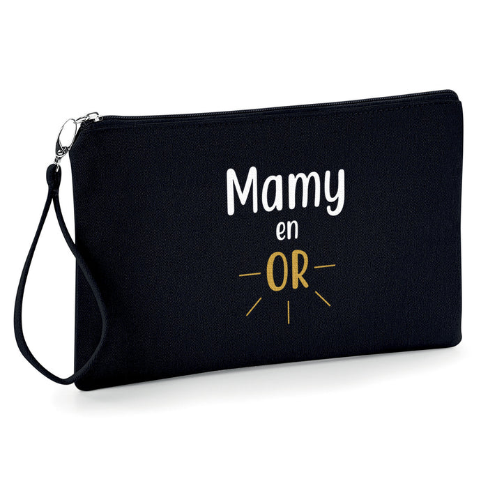 Mamie en or , Mamy , Grand-mère ,Pochette femme trousse,  So Custom