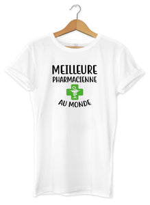 T-shirt femme meilleure pharmacienne So Custom