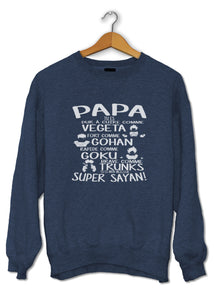 sweat original tee shirt Papa Super Saiyan DBZ dragon ball So Custom