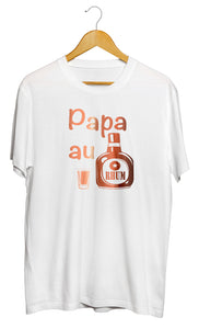 T shirt original papa père rhum humour So Custom