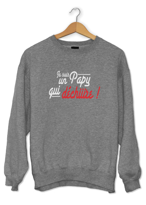 Sweat original Papy qui déchire amour famille So Custom