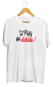 T-shirt  Papy qui déchire amour famille So Custom tee shirt original