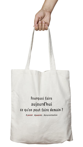 Tote bag marrant et original procrastiner demain So Custom