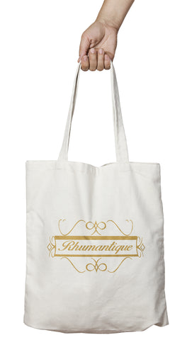 Tote bag original humour rhum rhumantique romantique alcool So Custom