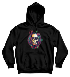 Sweat capuche original tête de mort rose So Custom