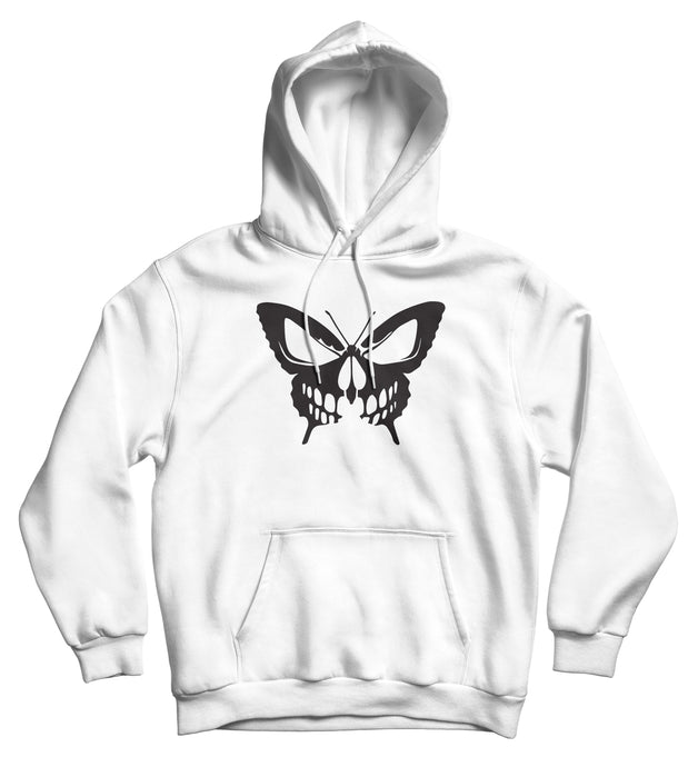Sweat capuche original papillon tête de mort  So Custom