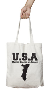 Tote bag marrant et original USA Alsace So Custom