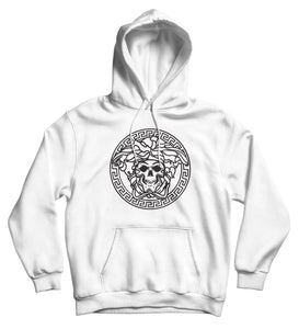 Sweat capuche humour détournement logo Versace So Custom