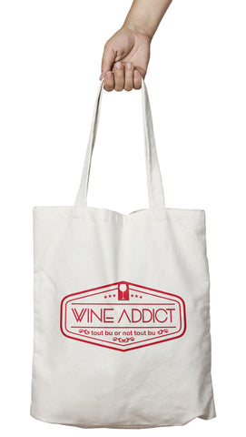 Tote bag original humour vin tout bu or not tout bu t-shirt alcool So Custom