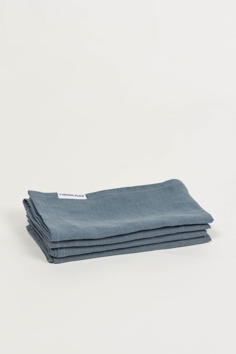 Linen Napkin Sets - Greyblue