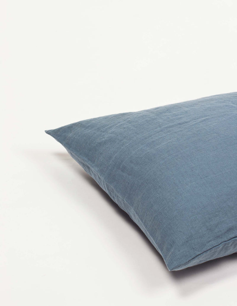 Linen Pillowcase - Grey blue