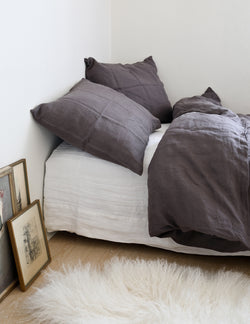 Linen Sheet Set - Charcoal gray