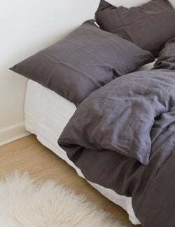 Linen Pillowcase - Charcoal gray