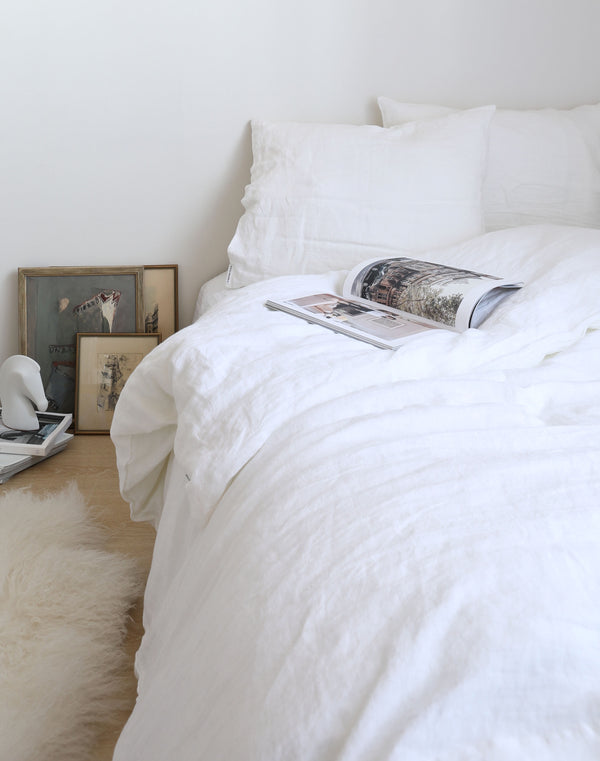Linen Sheet Set - White