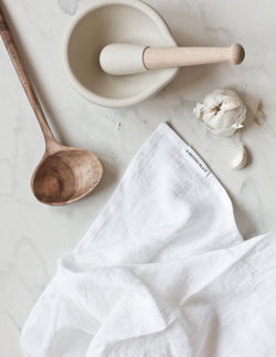 Linen Kitchen Towel - White