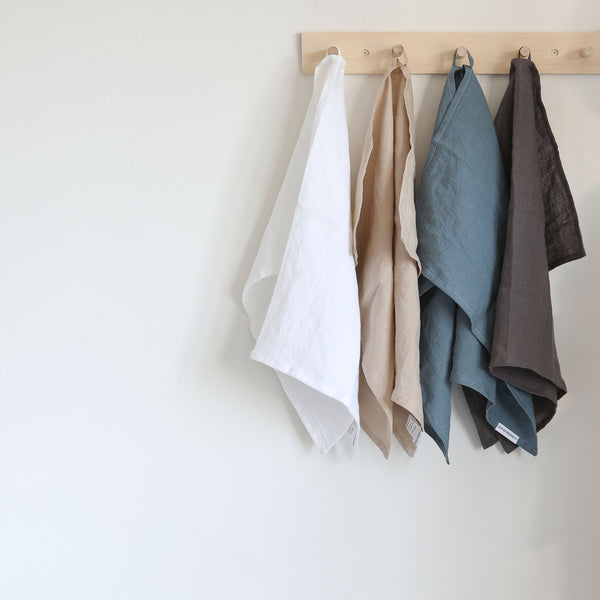 Linen Kitchen Towel - Grey Blue