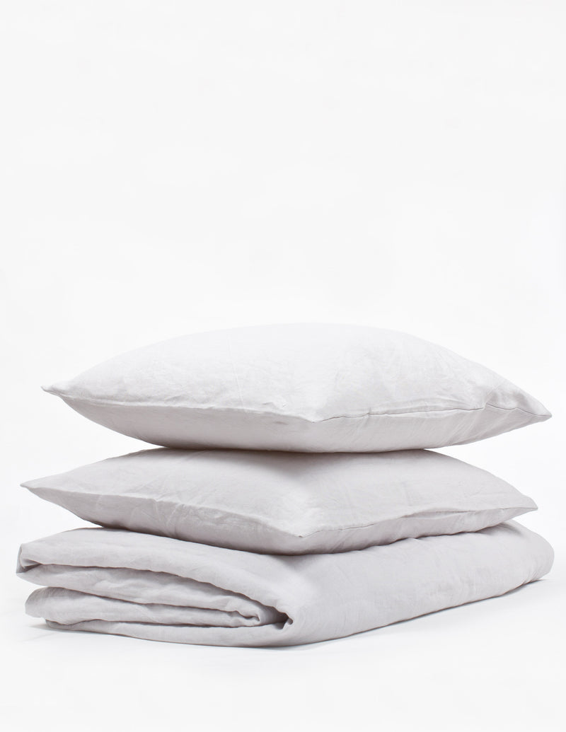 Linen Sheet Set - Light Grey