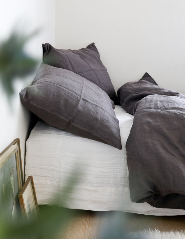 Linen Duvet Cover - Charcoal gray