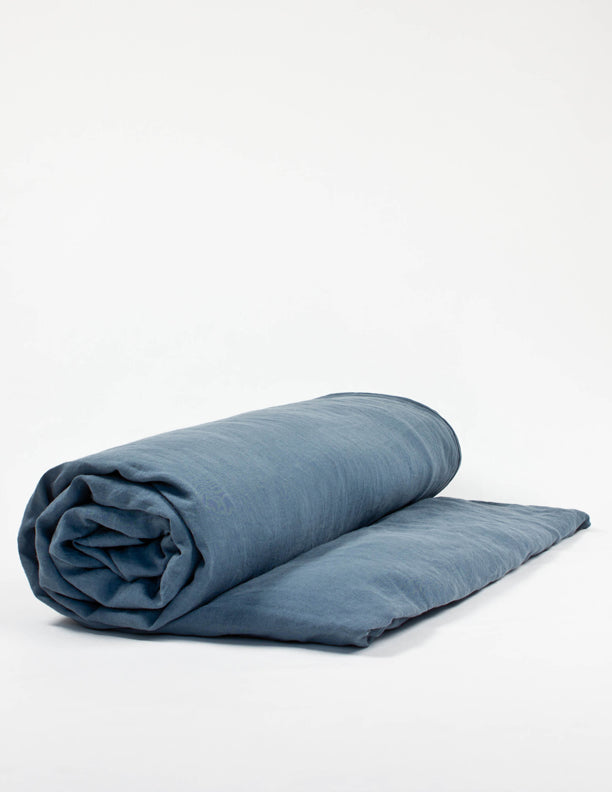 Linen Duvet Cover - Blue grey