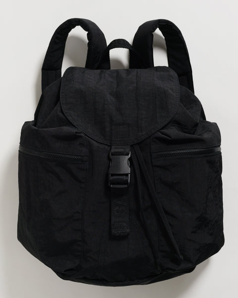 Large Black Recycled Nylon Sport Backpack