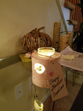 Birch Votive Candle Holders (with candles)