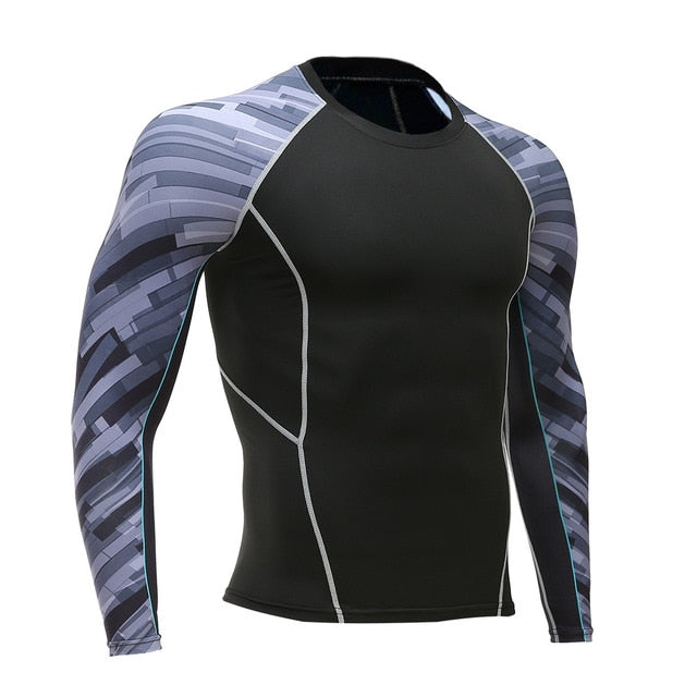Tights Men Fitness Running Shirt