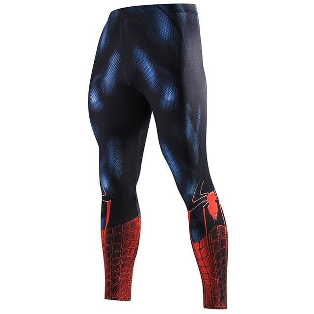3D Pattern Superman Fitness Leggings