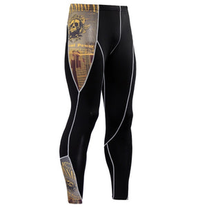 Mens 3D Print Quick Dry Skinny  Leggings