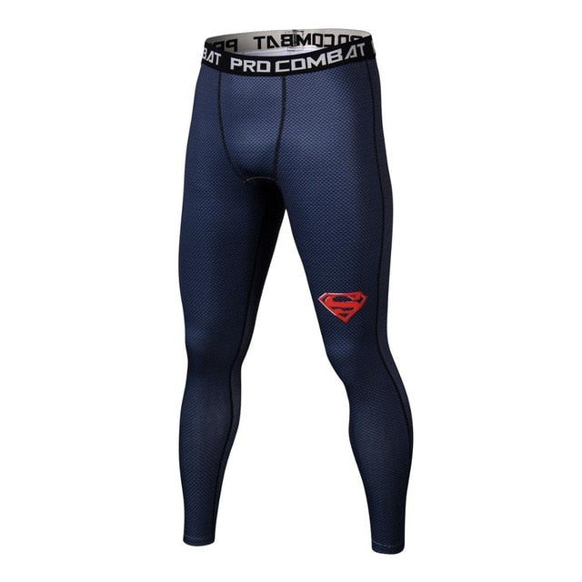 Superman 3D Printed Leggings