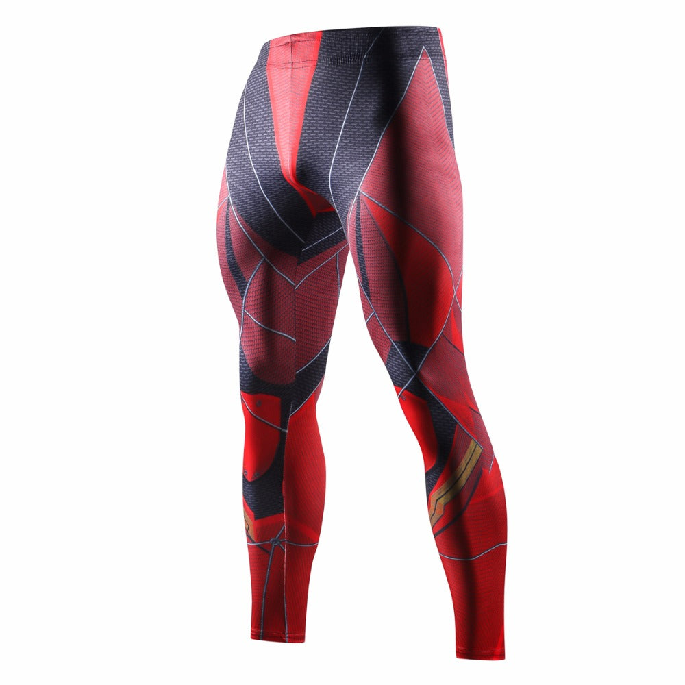 Superhero man 3D Printed Leggings
