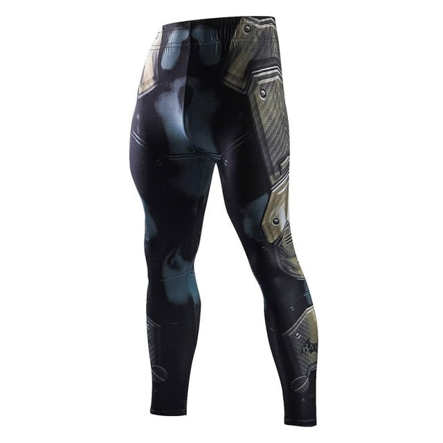 Spiderman venom superhero compression pants