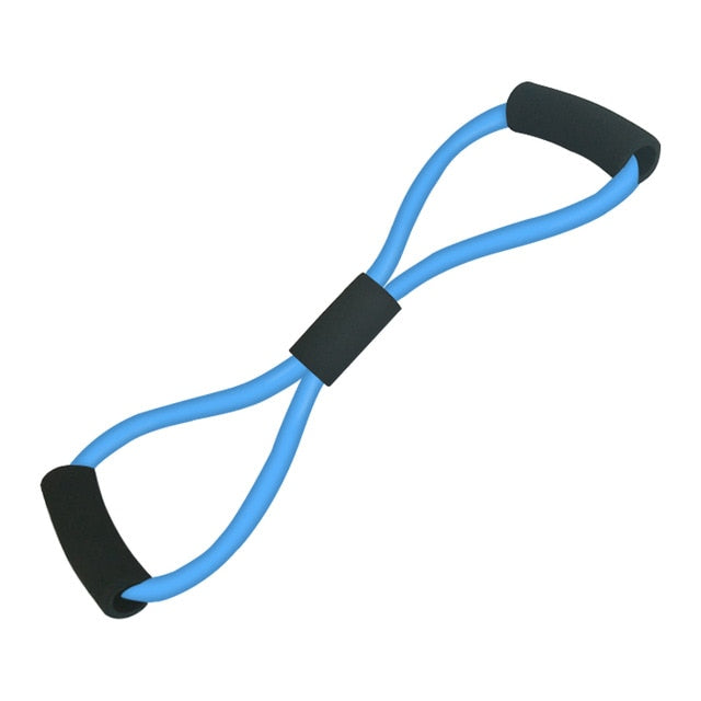 8 Word Type Resistance Band Chest Fitness