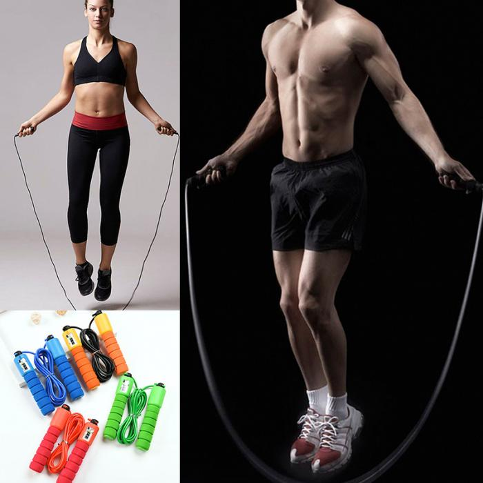 Jump Ropes with Counter Sports Fitness Adjustable Fast Speed Counting Jump Skip Rope Skipping Wire