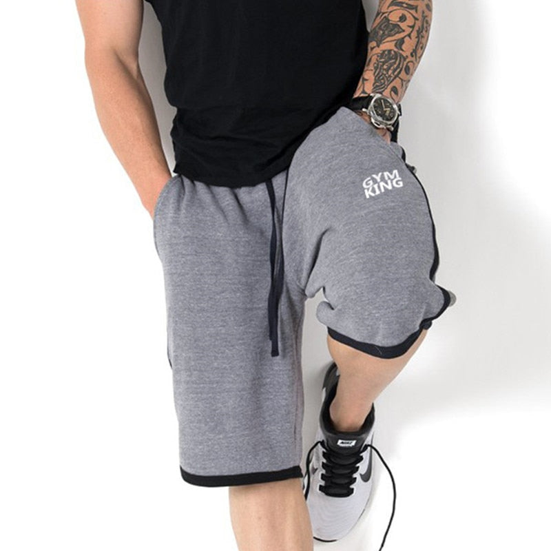 Men Gym Training Loose Cotton Shorts