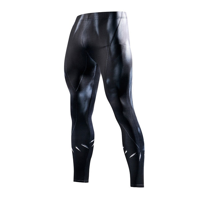 Super hero Running Tights Men Fashion casual Pants