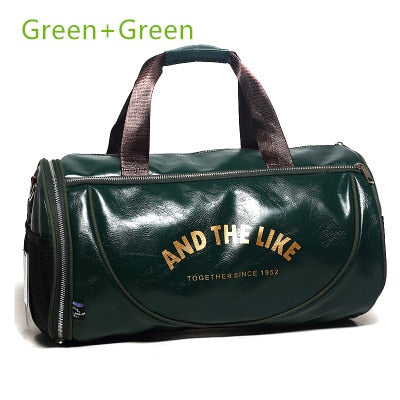 Large Capacity PU Leather Gym Bag