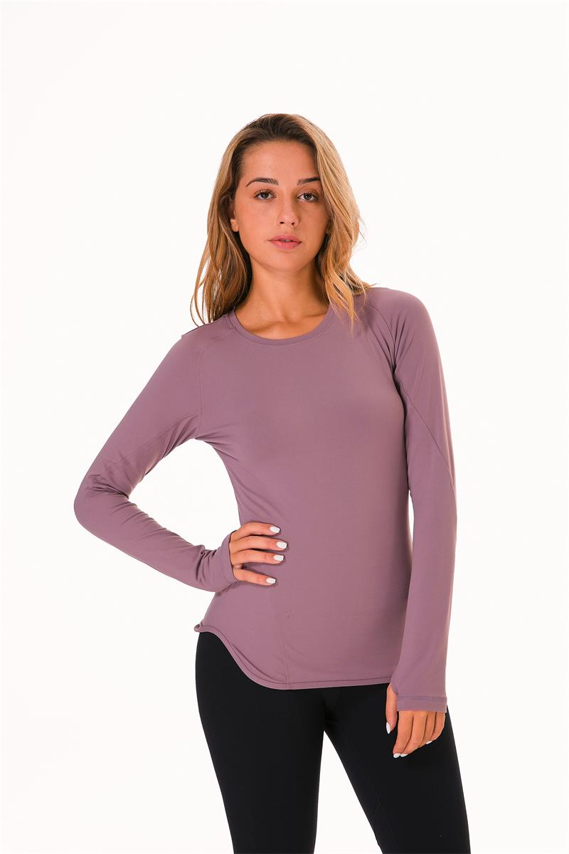 Women Long Sleeve Gym Running Tops