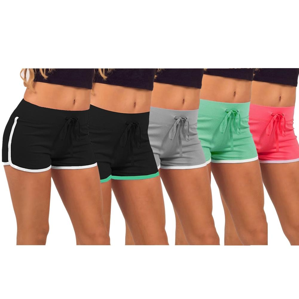 Summer Solid Cotton Sports Shorts
