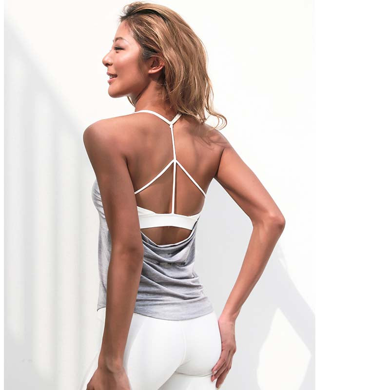 woman long vests fitness workout clothes