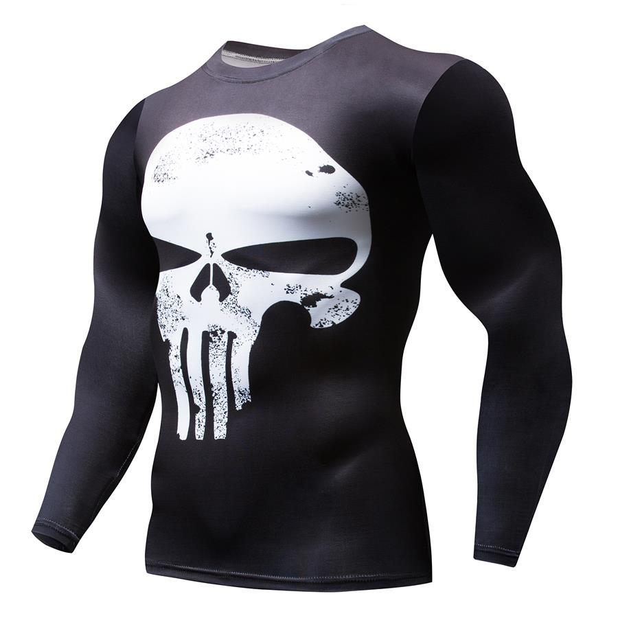 Superhero Punisher 3D Compression T Shirt
