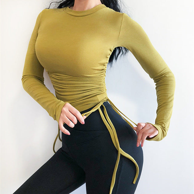 Drawstring Sport Top For Women