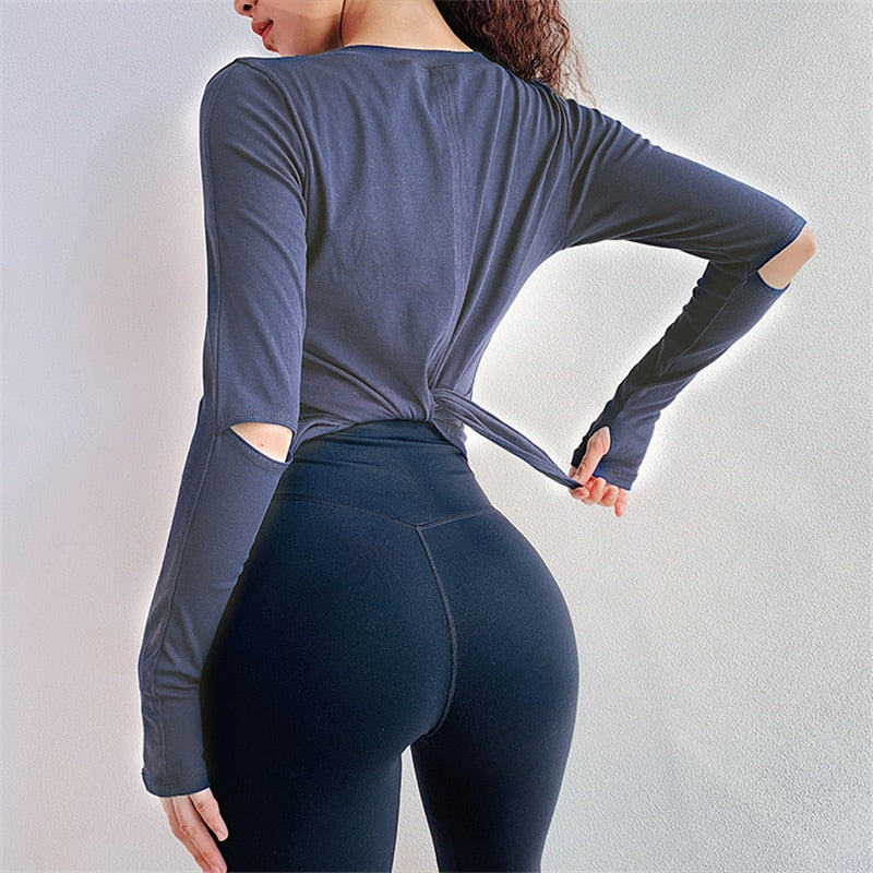 Women-Loose Fit Athletic Yoga Top