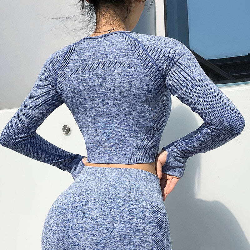Women Seamless Yoga Crop Top