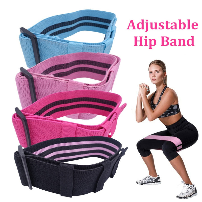 Adjustable Hip Glute Band Fabric Thighs