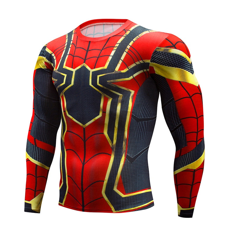 spiderman Running workout t shirt