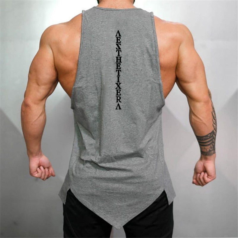 Men Fitness Singlet Sleeveless Shirt