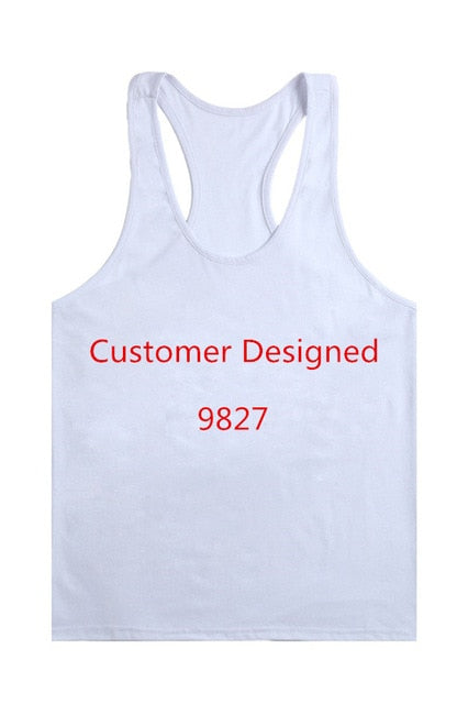 Fitness Men Solid Tank Tops