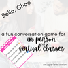 Bella, Chao:  an interpersonal game