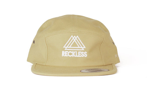 5 Panel Khaki Reckless x Flexfit Yupoong